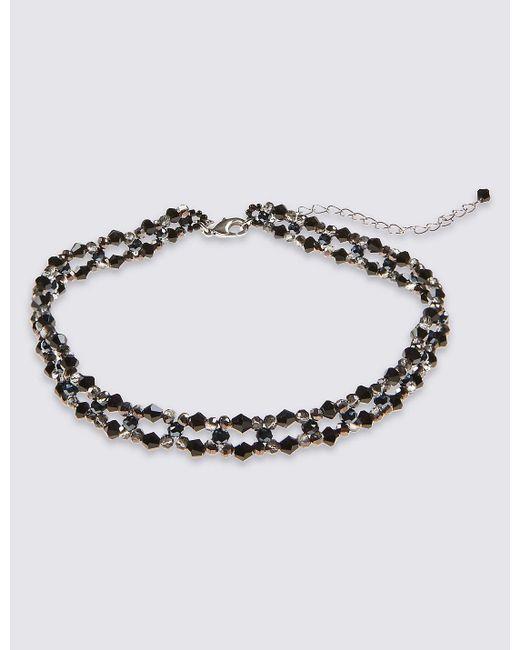 Marks & Spencer | Black Lattice Choker Necklace | Lyst