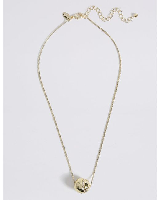 Marks & Spencer   Metallic Floating Ball Necklace   Lyst