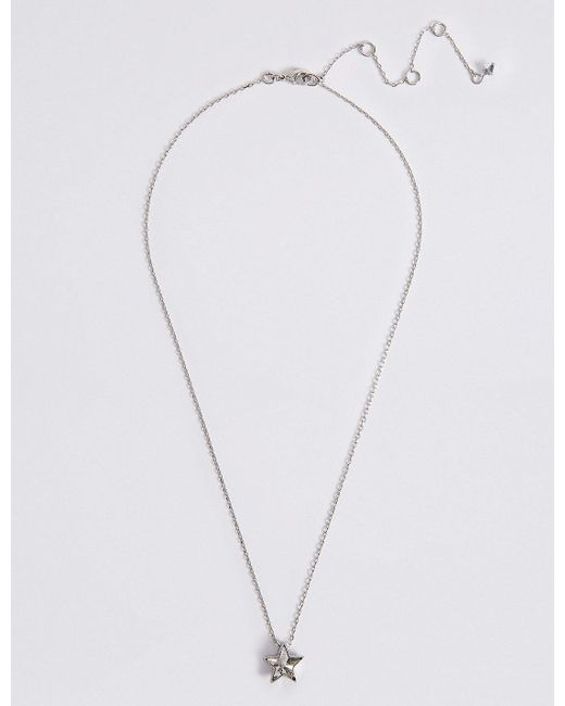 Marks & Spencer - Metallic Star Necklace Made With Swarovski® Elements - Lyst