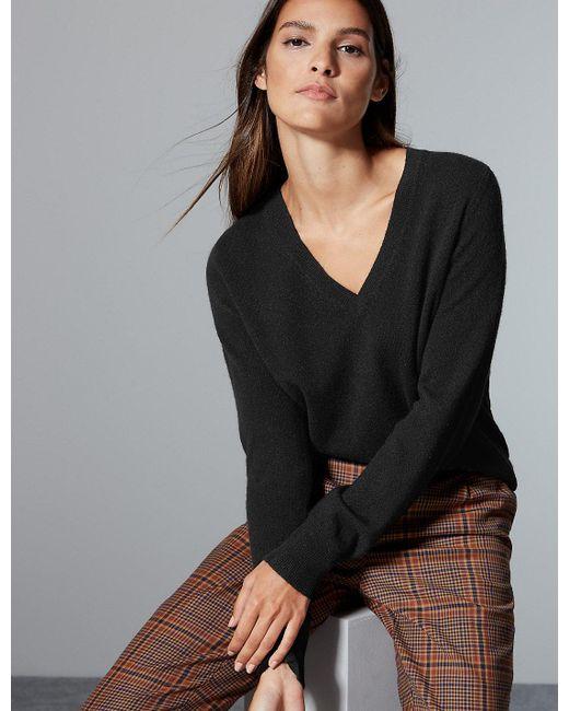 Marks & Spencer - Black Pure Cashmere V-neck Jumper - Lyst