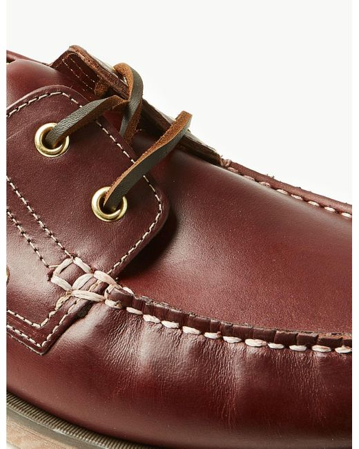 cute new high quality reliable reputation Men's Extra Wide Fit Leather Boat Shoes Rich Brown
