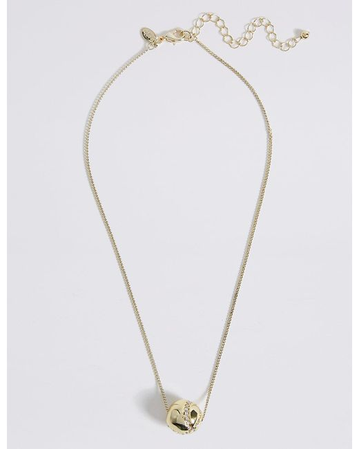 Marks & Spencer | Metallic Floating Ball Necklace | Lyst