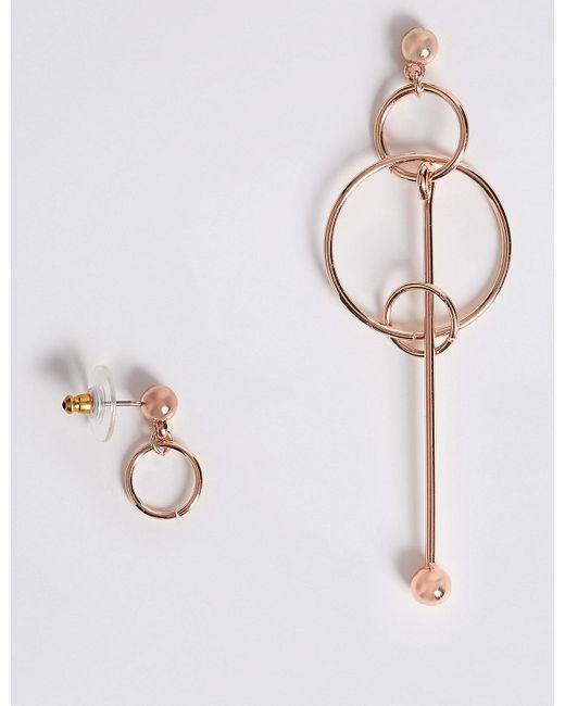 Marks & Spencer - Multicolor Pendulum Mismatch Earrings - Lyst