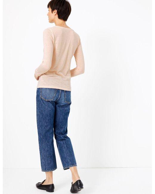 Marks /& Spencer Beige Linen Rich Top Sleeveless Regular /& Plus Size