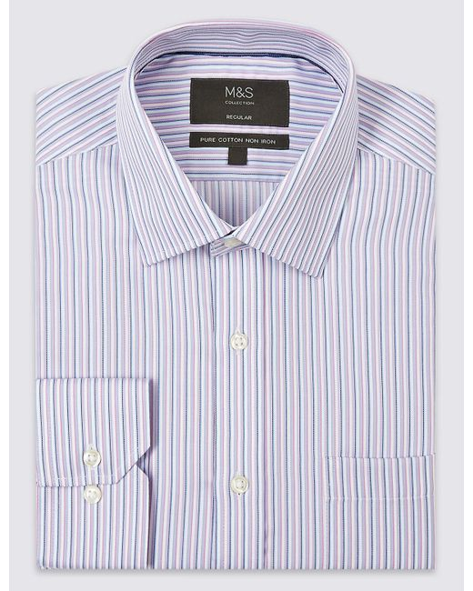Cheap View Clearance Cheap Price Marks and Spencer Pure Cotton Non-Iron Regular Fit Shirt orange mix Cheap Reliable Affordable Online Cheap Price For Sale wnAei7hT