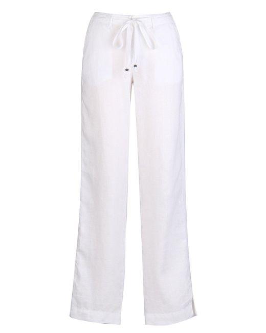 Marrakech - White Kimmy Linen Trouser - Lyst