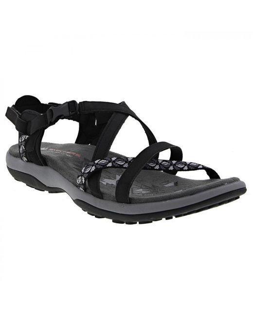 ee737e8a955 ... Skechers - Black Reggae Slim Vacay Adjustable Walking Sandals - Lyst ...