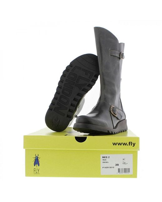 0693189a Fly London Mes 2 Wedge Zip Up Boots in Green - Save 10% - Lyst