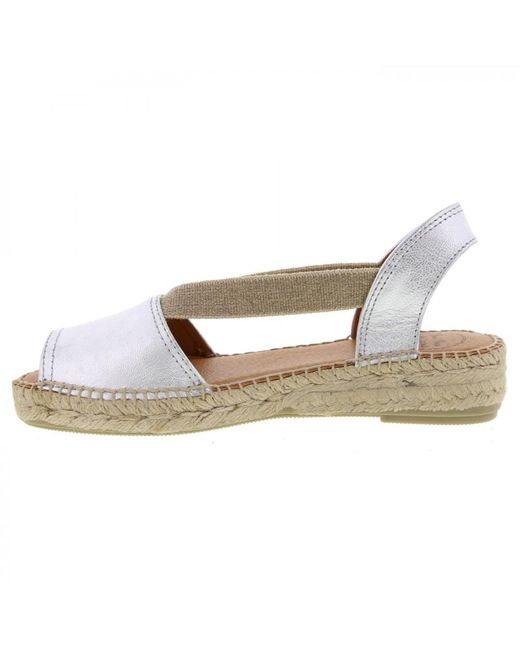 f415f4f6562 Women's Metallic Etna Leather Slingback Espadrille Sandals Shoes