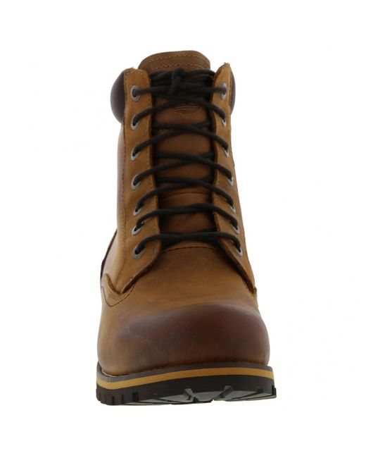 aa76bc02d6a Men's Earthkeeper Rugged 6 Inch Waterproof Boots - Red Brown