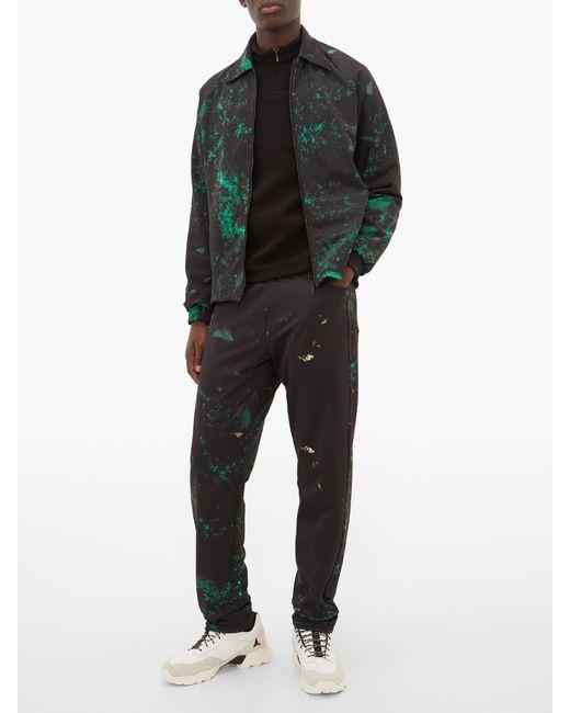 Cottweiler Pantalon technique à imprimé abstrait Cruise homme de coloris noir