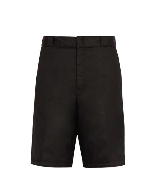 Prada - Black Short en nylon molletonné for Men - Lyst