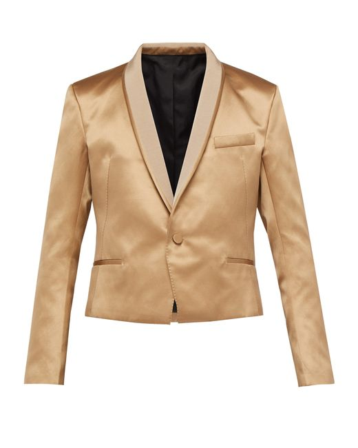 Haider Ackermann Natural Shawl-lapel Silk-blend Satin Jacket for men