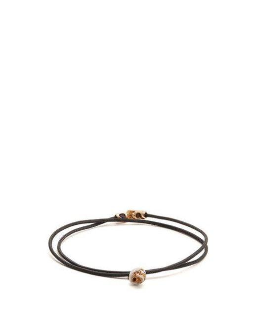 Luis Morais - Black Double-wrap Skull Bracelet for Men - Lyst