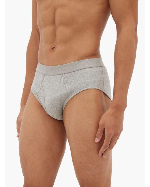Comme des Garçons Gray Cotton-jersey Briefs for men