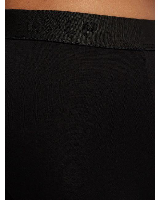 メンズ CDLP ストレッチジャージー ボクサーブリーフ X9 Black