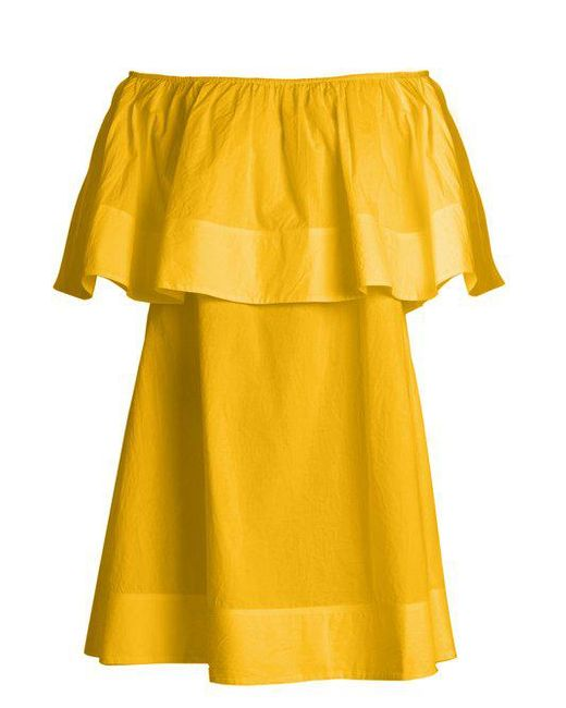Apiece Apart - Yellow Piper Petal Off-the-shoulder Dress - Lyst