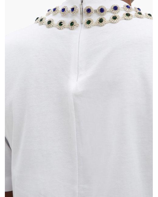 Christopher Kane クリスタル コットンtシャツ White