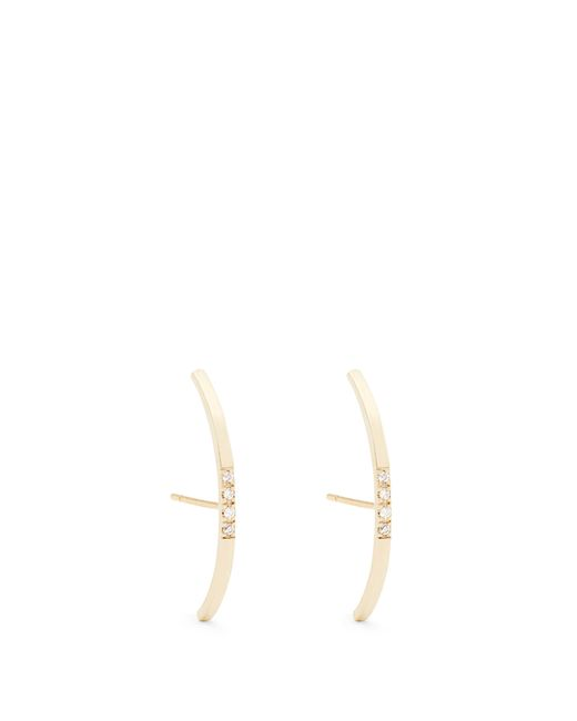 Loren Stewart | Metallic Diamond & Yellow-gold Earrings | Lyst
