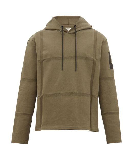 5 MONCLER CRAIG GREEN Green Woven Stripes Cotton Hooded Sweatshirt for men