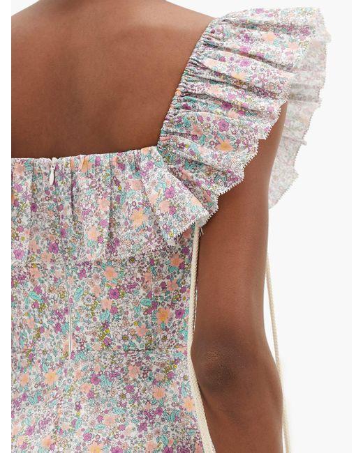Zimmermann カーナビー フローラル コットンミニドレス Multicolor