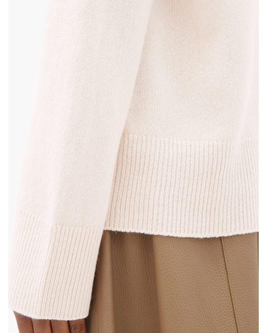 The Row ミリナ ウールカシミア スタンドカラーセーター Multicolor