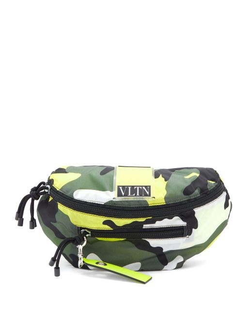 メンズ Valentino Garavani Vltnロゴ カモフラージュ ベルトバッグ Multicolor