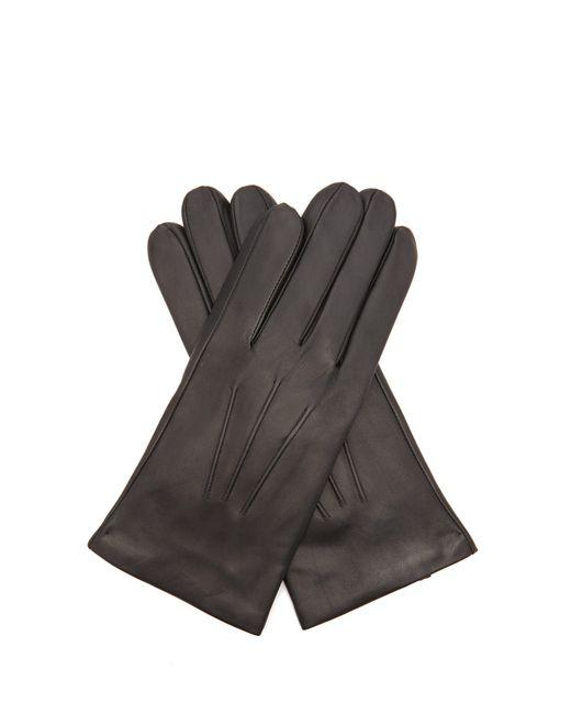 Gants en cuir et cachemire Bath Dents pour homme en coloris Black