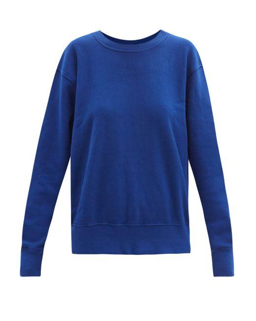Les Tien ブラッシュドバックコットン スウェットシャツ Blue