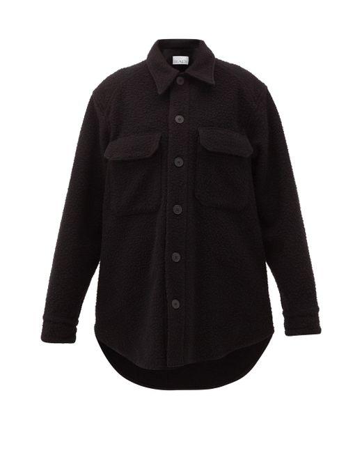 Raey オーバーサイズ ウールブレンド シャツジャケット Black