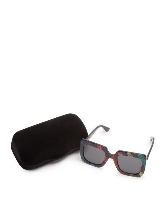 524fde5431 ... Gucci - Multicolor Square Frame Glitter Acetate Sunglasses - Lyst ...