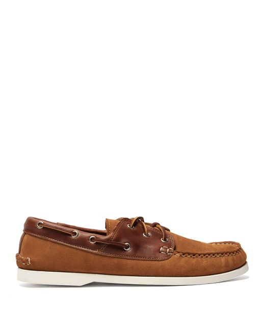 Quoddy - Brown Classic Suede And Leather Boat Shoes for Men - Lyst