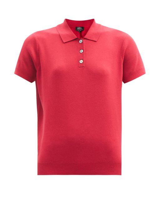 A.P.C. マチルダ ポロシャツ Red