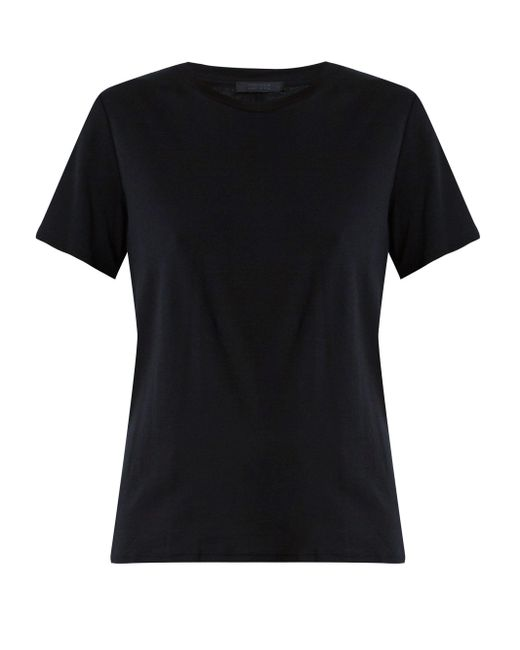 The Row Black Wesler Short-sleeved Cotton-jersey T-shirt