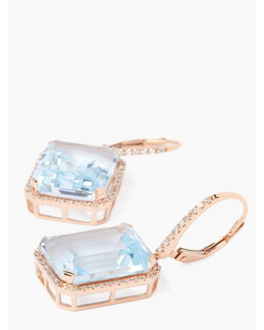 SHAY ポートレート ダイヤモンド 18kローズゴールドピアス Multicolor
