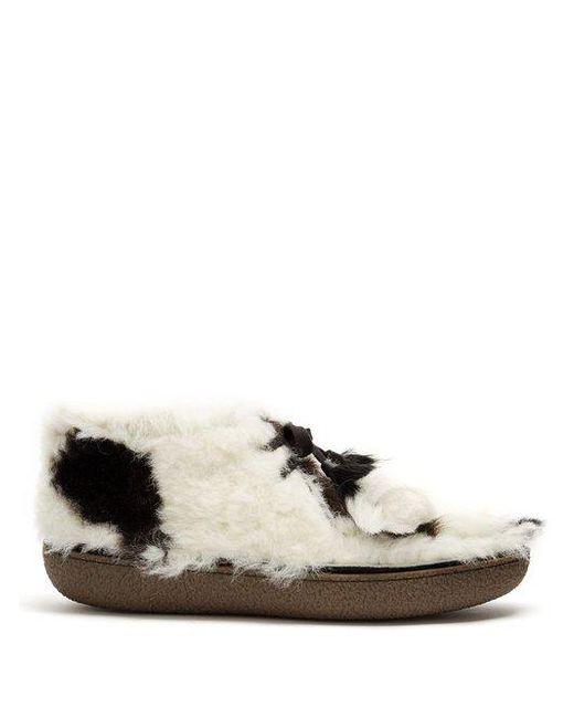 Prada - Black Calf-hair Desert Boots for Men - Lyst