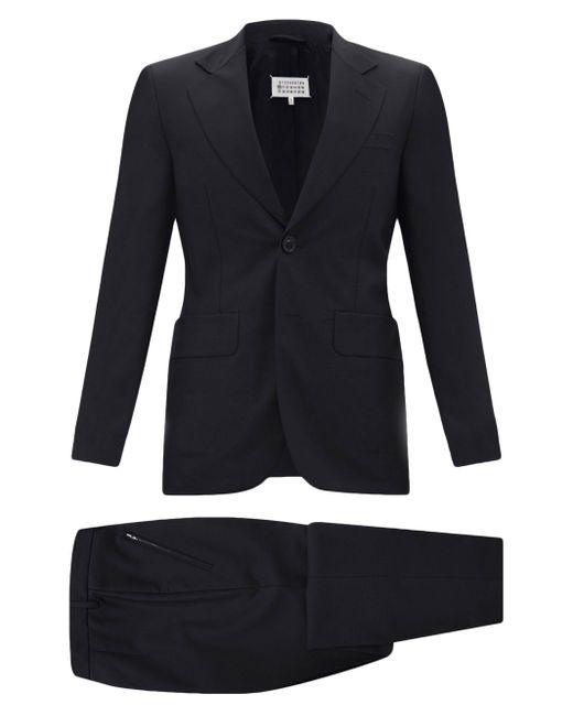 メンズ Maison Margiela ウールフレスコ ツーピーススーツ Black