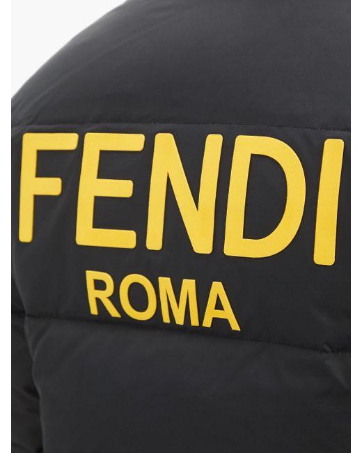 メンズ Fendi リバーシブル ロゴ ダウンジャケット Multicolor