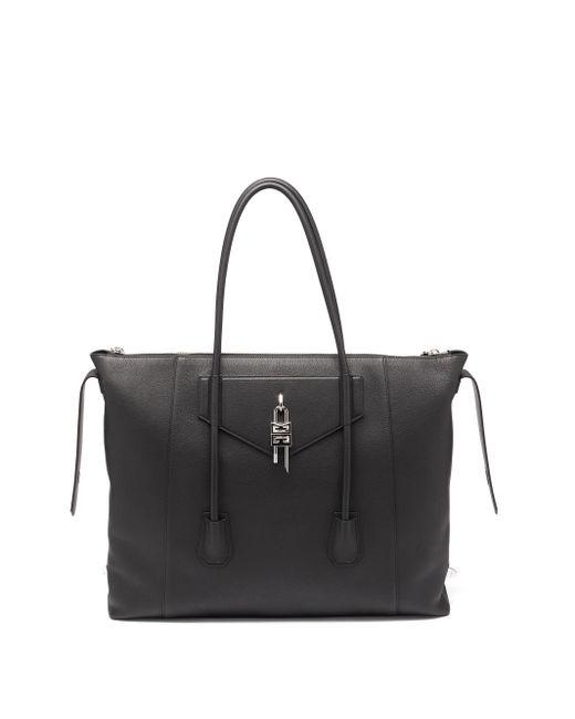 メンズ Givenchy アンティゴナ ロック ラージ レザーボストンバッグ Black