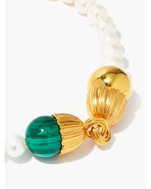 Timeless Pearly パール 24kゴールドプレーテッドチョーカーネックレス Multicolor