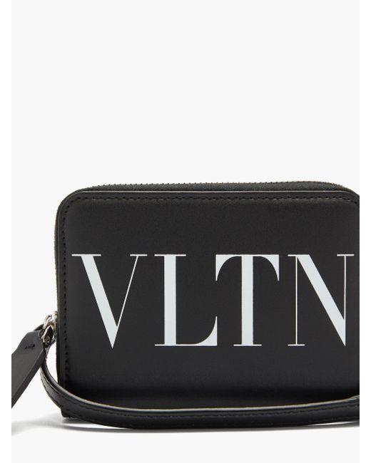 メンズ Valentino Vltn レザーウォレット Black