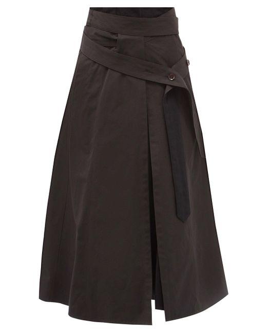 Lemaire ベルテッド キャンバススカート Black