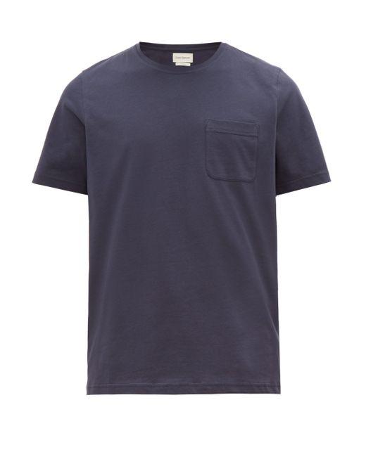 メンズ Oliver Spencer オリ オーガニックコットン Tシャツ Blue