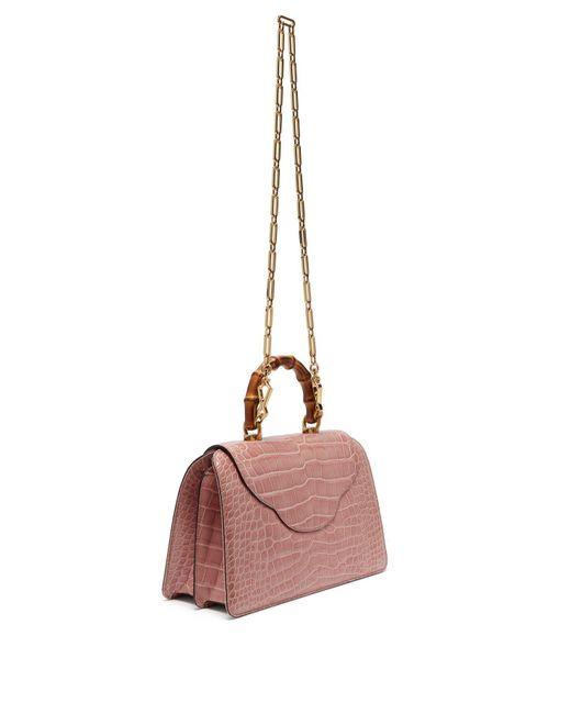 3592fde8765260 ... Gucci - Pink Thiara Bamboo Handle Crocodile Leather Bag - Lyst ...