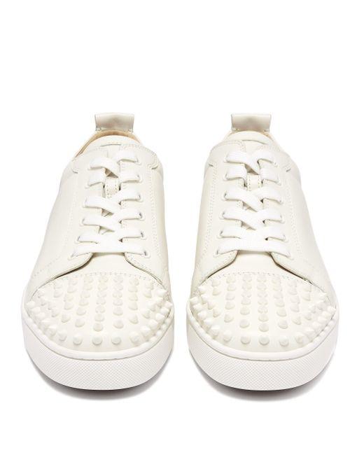 Baskets en cuir à picots Louis Junior Christian Louboutin pour homme en coloris White