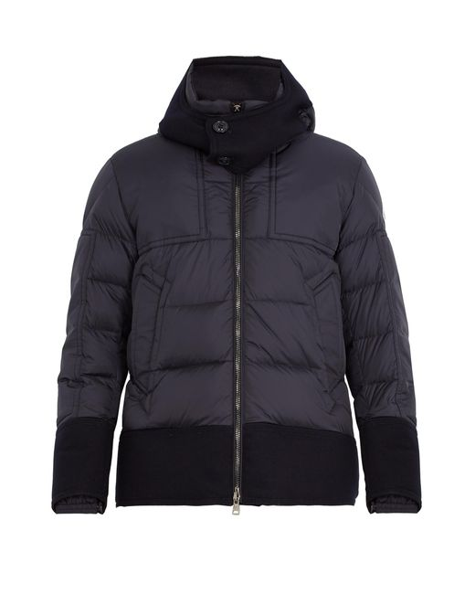 Moncler | Blue Dominique Contrast-trim Quilted Down Jacket for Men | Lyst