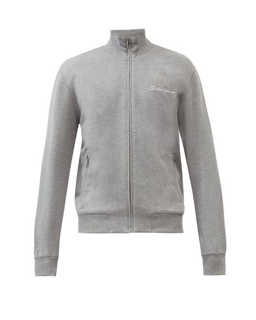 メンズ Dolce & Gabbana コットントラックジャケット Gray