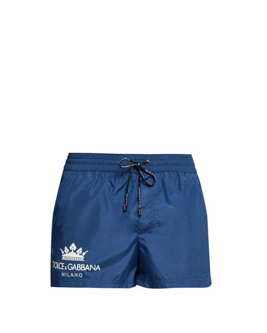 Dolce & Gabbana - Blue Short de bain à imprimé logo for Men - Lyst