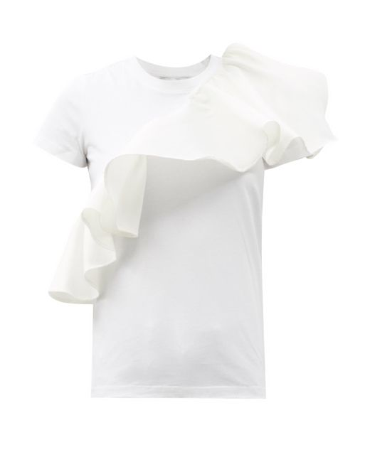 Marques'Almeida ラッフル オーガニックコットンtシャツ White