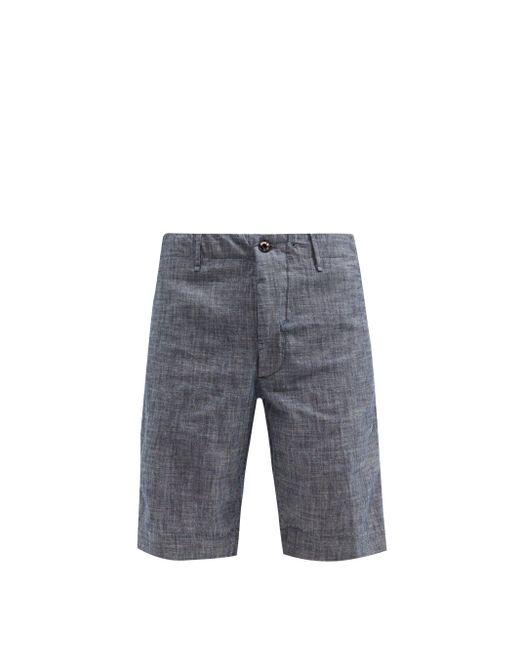 メンズ Incotex コットンシャンブレー ショートパンツ Blue